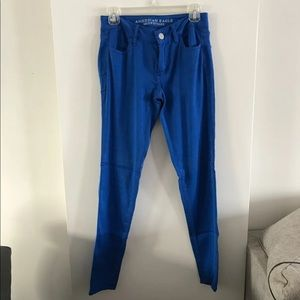 AE Cobalt Blue Super Stretch Jegging Pants